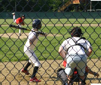 Boys Playing Baseball at Camp Micah